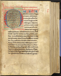 Decorated Initial, In A Miscellany From Ely f.43r